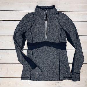 🍋 LULULEMON | Grey & Black Half Zip